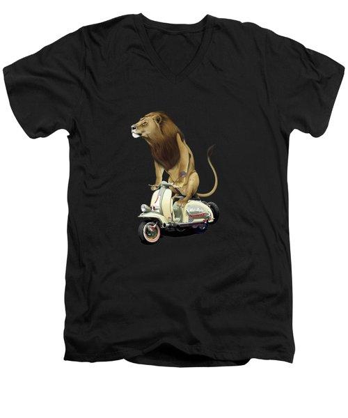 Lamb Colour Men's V-Neck T-Shirt by Rob Snow