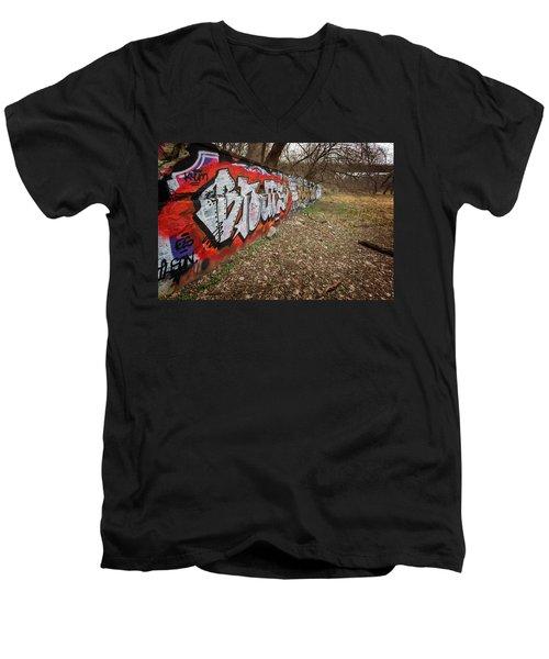 Layers Men's V-Neck T-Shirt by CJ Schmit