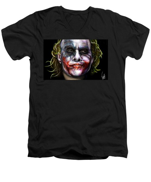 Let's Put A Smile On That Face Men's V-Neck T-Shirt by Vinny John Usuriello