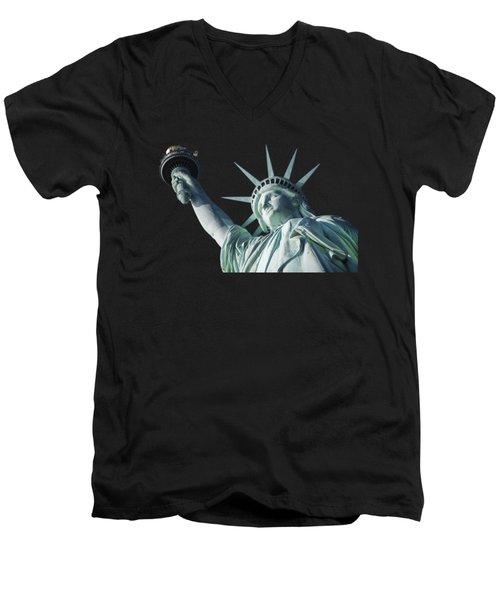 Liberty II Men's V-Neck T-Shirt by  Newwwman