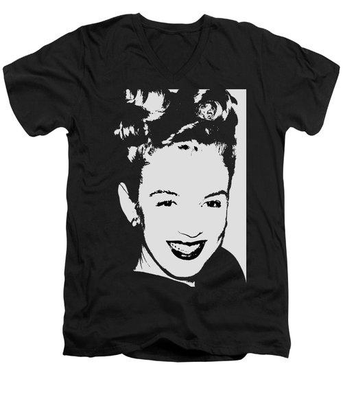 Marilyn Men's V-Neck T-Shirt by Joann Vitali