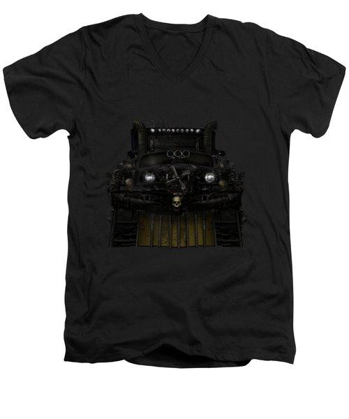 Midnight Run Men's V-Neck T-Shirt by Shanina Conway