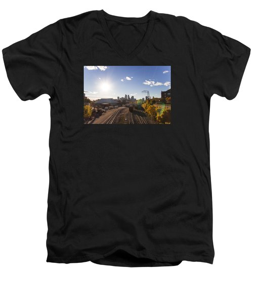 Minneapolis In The Fall Men's V-Neck T-Shirt by Zach Sumners