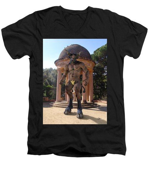 Monster Maze Men's V-Neck T-Shirt by Joaquin Abella