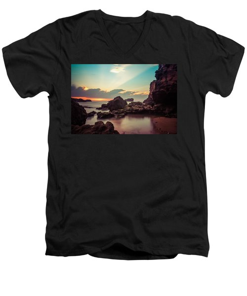 Men's V-Neck T-Shirt featuring the photograph New Vision by Thierry Bouriat