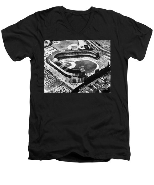 New York: Yankee Stadium Men's V-Neck T-Shirt by Granger