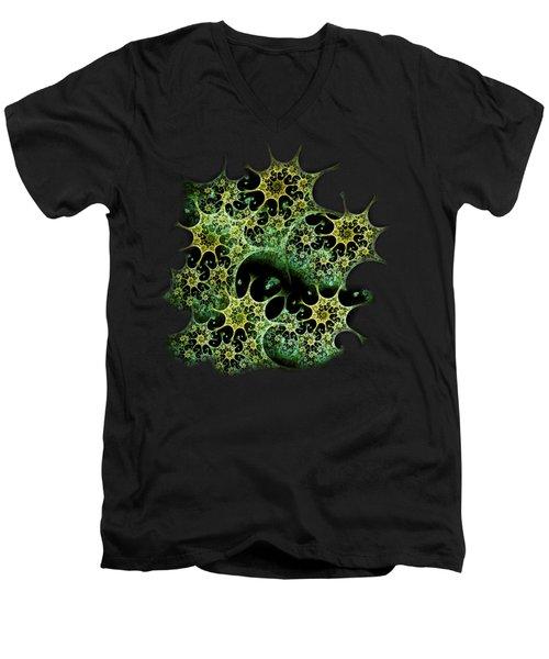 Night Lace Men's V-Neck T-Shirt by Anastasiya Malakhova