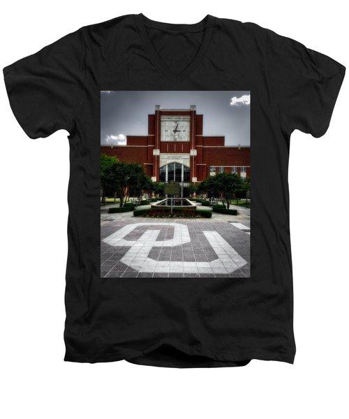 Oklahoma Memorial Stadium Men's V-Neck T-Shirt by Center For Teaching Excellence