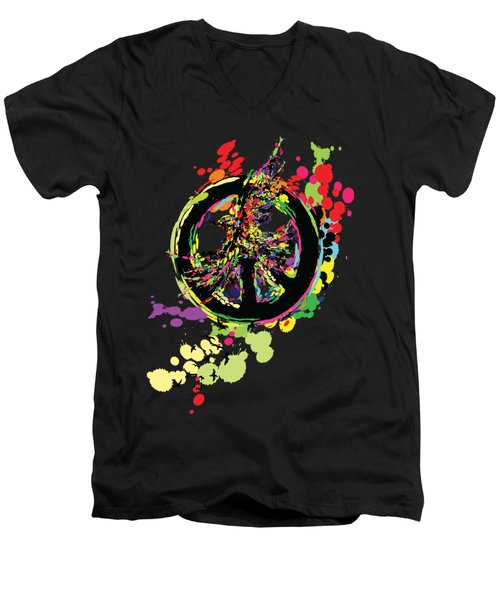 Peace And Peace Men's V-Neck T-Shirt by Cindy Shim