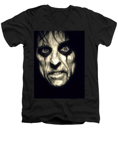 Poison Alice Cooper Men's V-Neck T-Shirt by Fred Larucci
