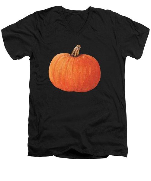 Pumpkin Men's V-Neck T-Shirt by Anastasiya Malakhova