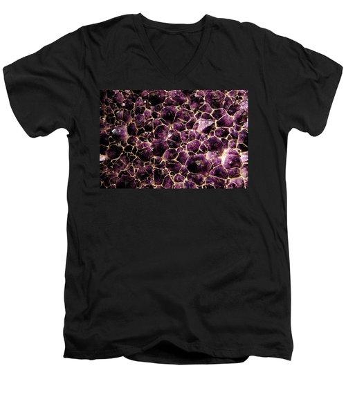 Purple Quartz  Amethyst Men's V-Neck T-Shirt by LeeAnn McLaneGoetz McLaneGoetzStudioLLCcom