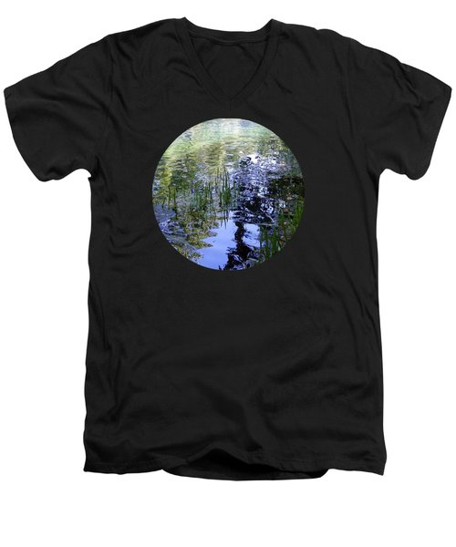 Reflections  Men's V-Neck T-Shirt by Mary Wolf
