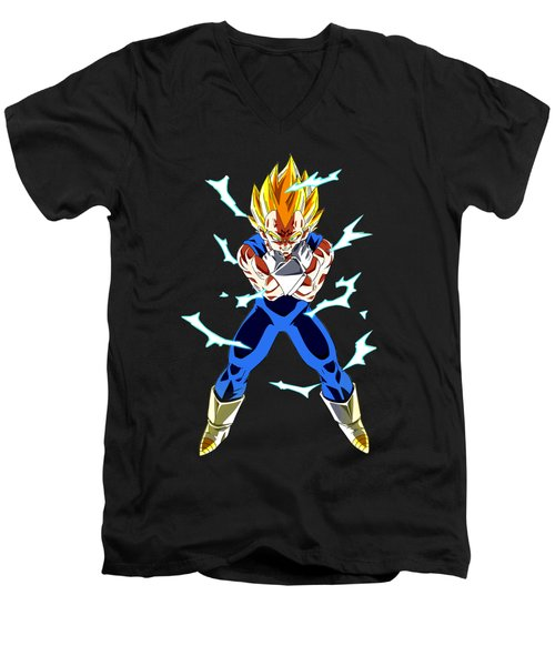 Saiyan Warriors Men's V-Neck T-Shirt by Opoble Opoble