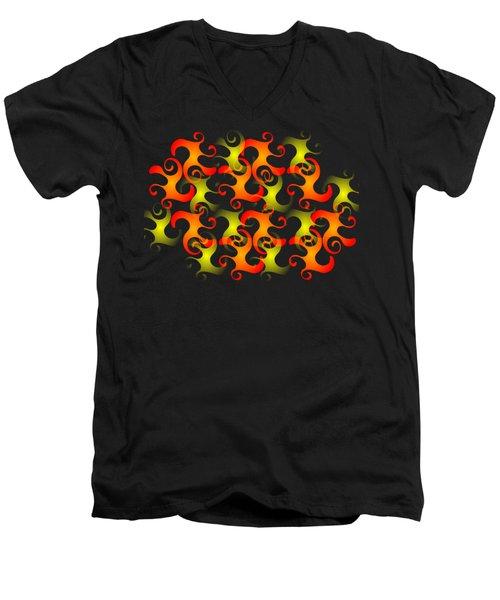 Salamanders Dream Men's V-Neck T-Shirt by Anastasiya Malakhova