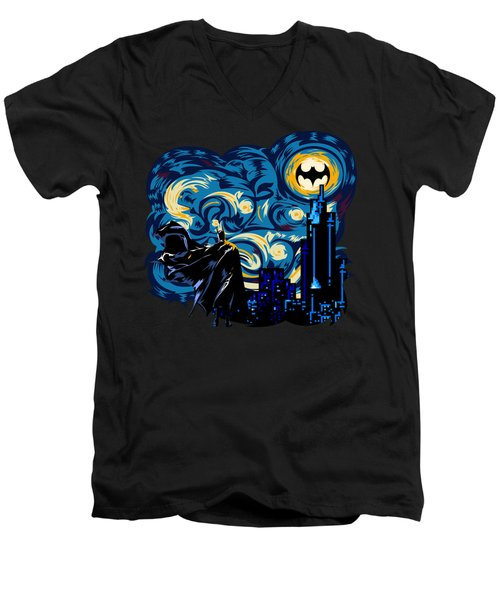 Starry Knight Men's V-Neck T-Shirt by Three Second