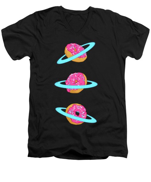 Sugar Rings Of Saturn Men's V-Neck T-Shirt by Evgenia Chuvardina