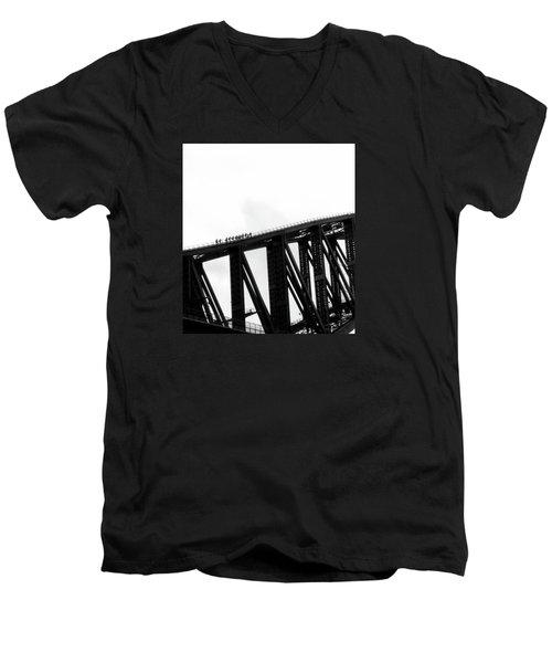Sydney Harbour Bridge Men's V-Neck T-Shirt by Sandy Taylor