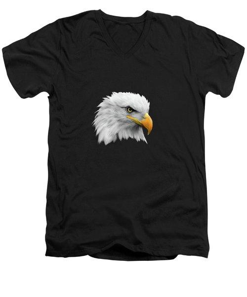 The Bald Eagle Men's V-Neck T-Shirt by Mark Rogan