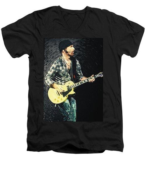 The Edge Men's V-Neck T-Shirt by Taylan Apukovska