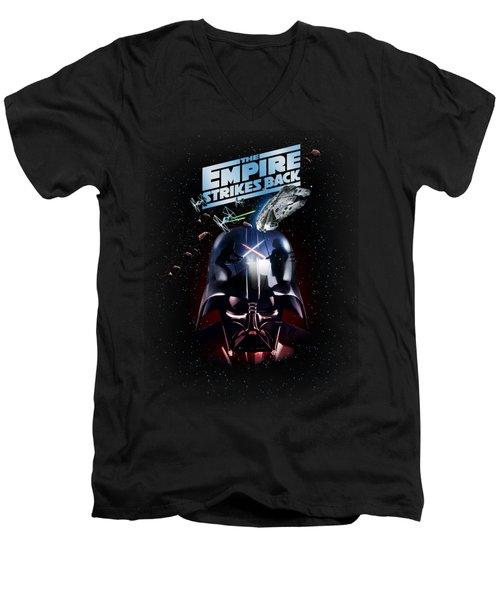 The Empire Strikes Back Men's V-Neck T-Shirt by Edward Draganski