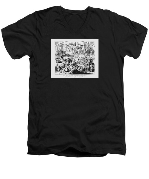 The End Of The Republican Party Men's V-Neck T-Shirt by War Is Hell Store