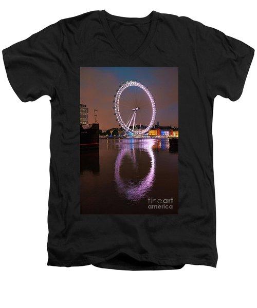 The London Eye Men's V-Neck T-Shirt by Stephen Smith