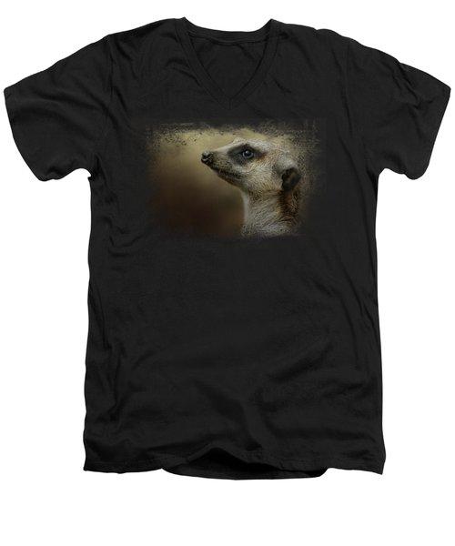 The Meerkat Men's V-Neck T-Shirt by Jai Johnson