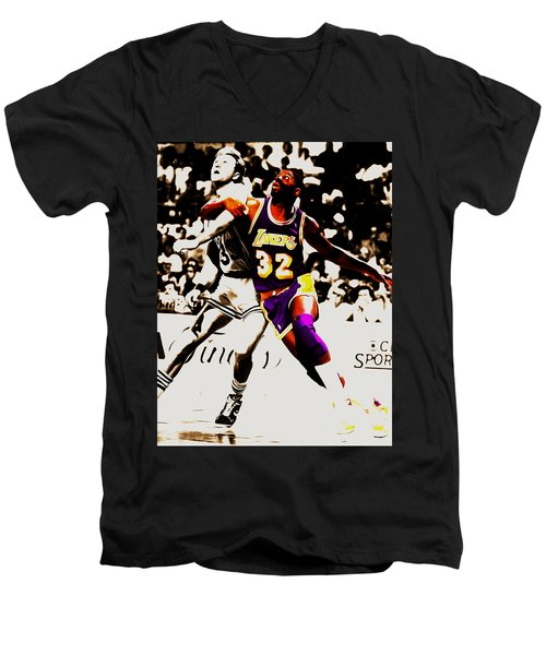 The Rebound Men's V-Neck T-Shirt by Brian Reaves