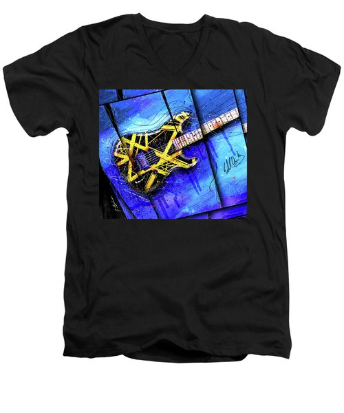 The Yellow Jacket_cropped Men's V-Neck T-Shirt by Gary Bodnar
