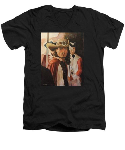 Will Turner Men's V-Neck T-Shirt by Caleb Thomas