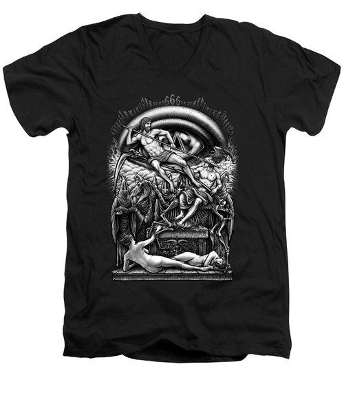 Winya No. 40 Men's V-Neck T-Shirt by Winya Sangsorn