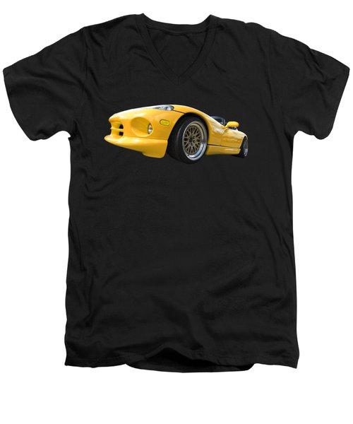 Yellow Viper Rt10 Men's V-Neck T-Shirt by Gill Billington
