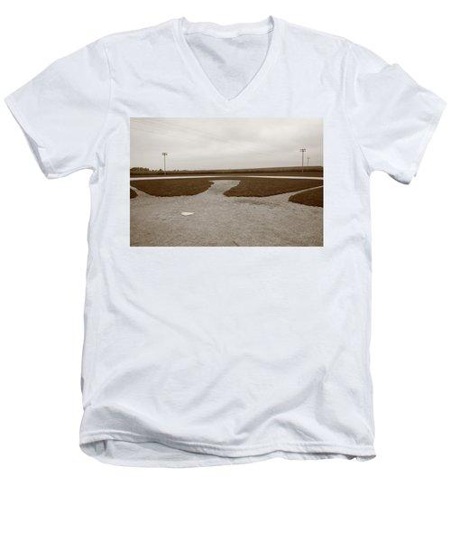 Baseball Men's V-Neck T-Shirt by Frank Romeo