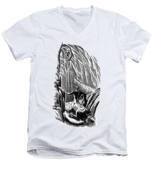 Minotaur, Legendary Creature Men's V-Neck T-Shirt by Photo Researchers