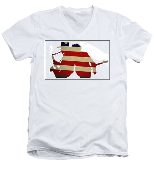 The Big Man And The Boss Men's V-Neck T-Shirt by Bill Cannon