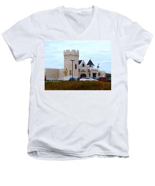 A Cheese Castle Men's V-Neck T-Shirt by Kay Novy