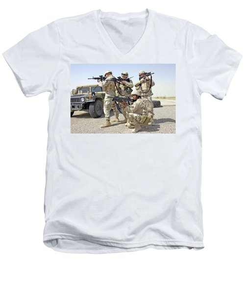 Men's V-Neck T-Shirt featuring the photograph Air Force Squadron by Science Source