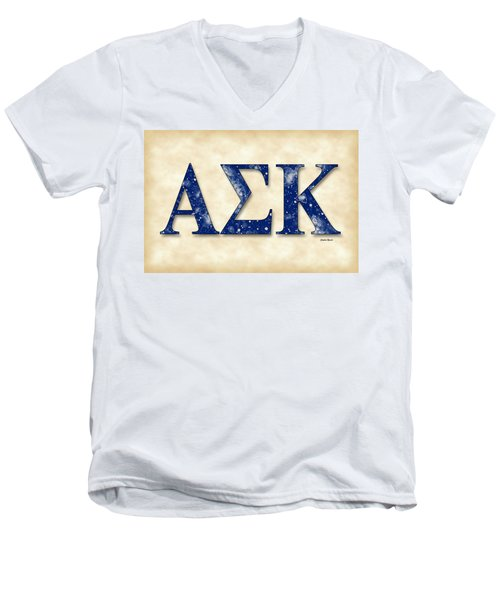 Alpha Sigma Kappa - Parchment Men's V-Neck T-Shirt by Stephen Younts