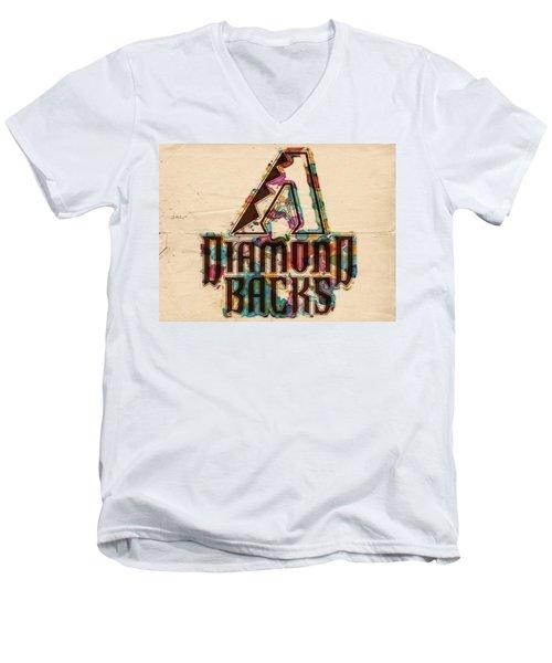 Arizona Diamondbacks Poster Vintage Men's V-Neck T-Shirt by Florian Rodarte