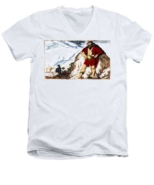 Atlas And Perseus, Greek Mythology Men's V-Neck T-Shirt by Photo Researchers