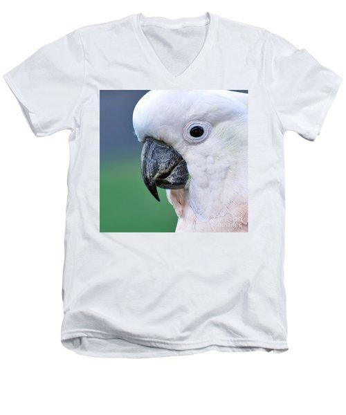 Australian Birds - Cockatoo Up Close Men's V-Neck T-Shirt by Kaye Menner