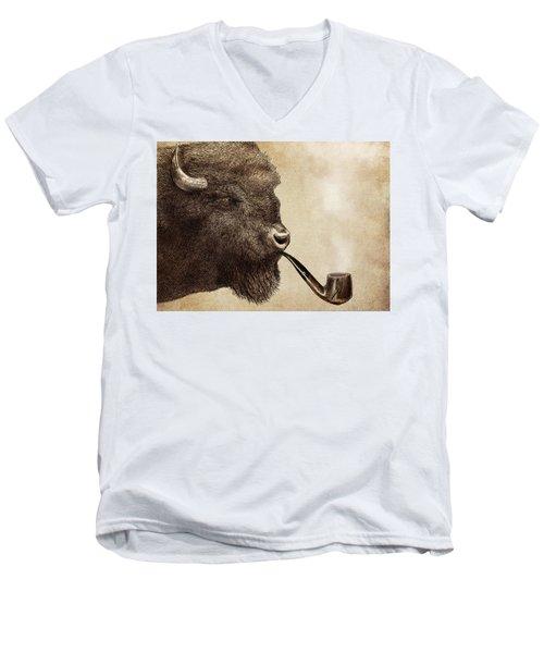 Big Smoke Men's V-Neck T-Shirt by Eric Fan