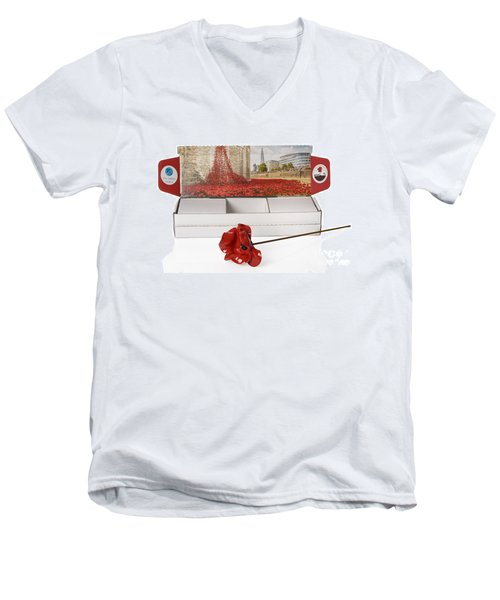 Blood Swept Lands And Seas Of Red Men's V-Neck T-Shirt by Amanda Elwell