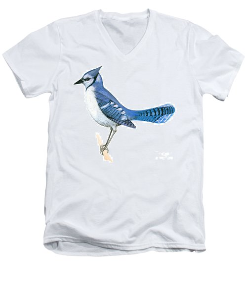 Blue Jay  Men's V-Neck T-Shirt by Anonymous