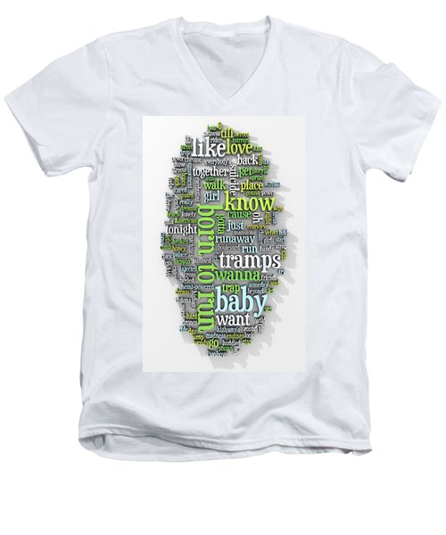 Born To Run Men's V-Neck T-Shirt by Scott Norris