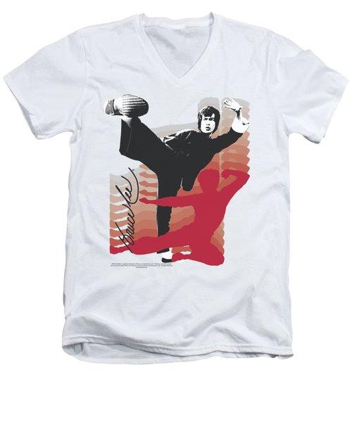 Bruce Lee - Kick It Men's V-Neck T-Shirt by Brand A