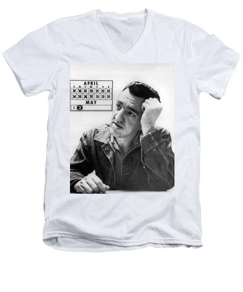 Caryl Chessman Men's V-Neck T-Shirt by Underwood Archives