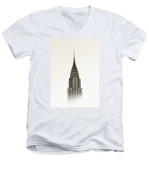 Chrysler Building - Nyc Men's V-Neck T-Shirt by Nicklas Gustafsson