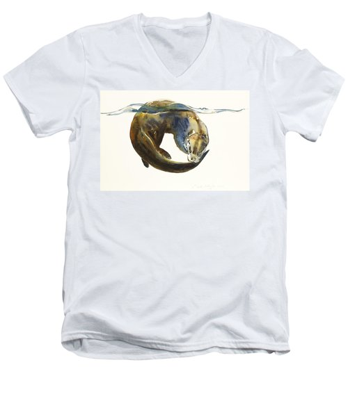 Circle Of Life Men's V-Neck T-Shirt by Mark Adlington
